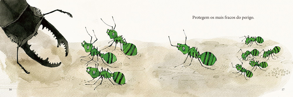 絵本 Children's book [Of Ants and Men]